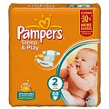 PAMPERS Подгузники Sleep & Play Mini (3-6 кг) Джамбо Упаковка 88