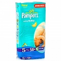 PAMPERS Подгузники Active Baby Junior (11-18 кг) Джамбо Упаковка 58\62